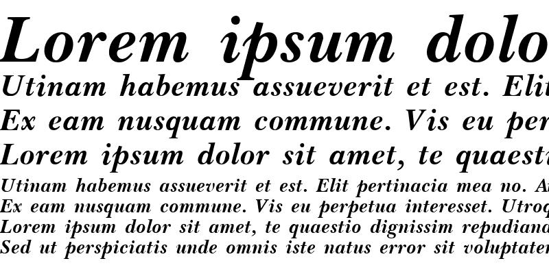 Sample of Basset Bold Italic