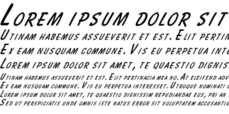 Sample of Bassett Italic