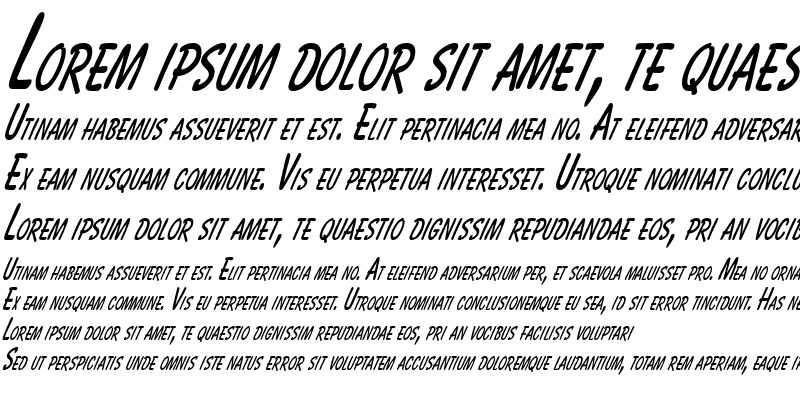 Sample of BassettThin Italic