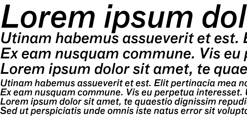 Sample of Bau-MediumItalic