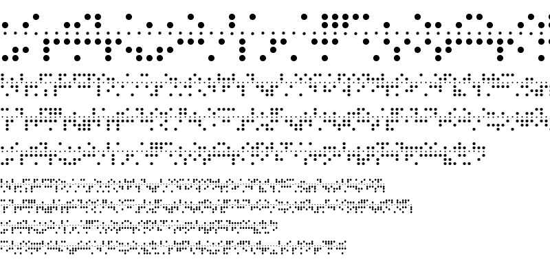 Sample of Baudot 5 Baudot 5