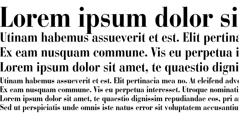 Sample of Bauer Bodoni Condensed