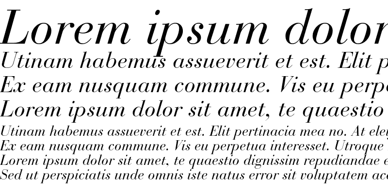 Sample of Bauer Bodoni Italic OsF