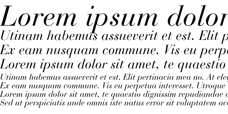 Sample of Bauer Bodoni Std 1
