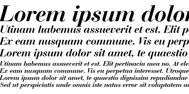 Sample of BauerBodni BT Bold Italic