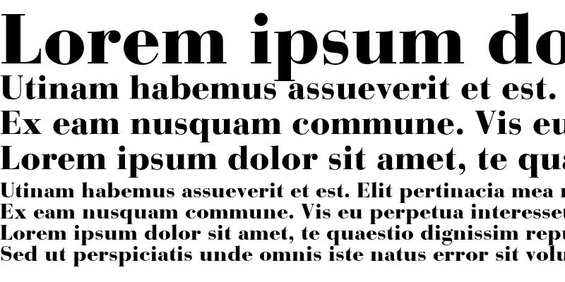Sample of BauerBodoni