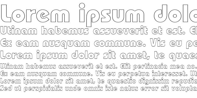 Sample of Bauhaus Black Outline