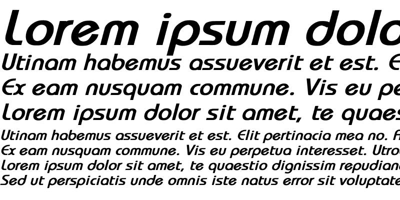 Sample of Bauhaus Bold Italic