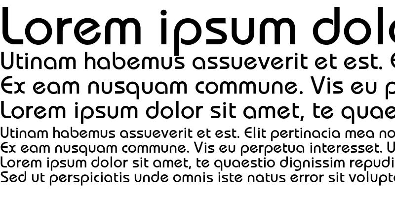 Sample of Bauhaus Medium