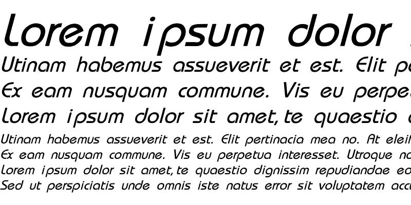 Sample of Bauhaus-Thin-Italic