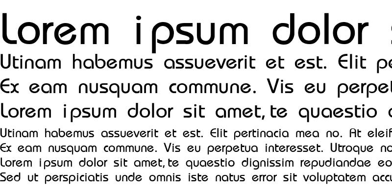 Sample of Bauhaus-Thin
