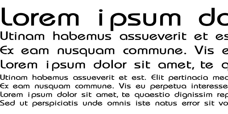 Sample of Bauhaus-Thin Wide Regular
