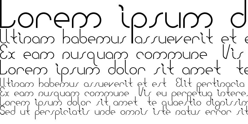 Sample of Bauhaus Two