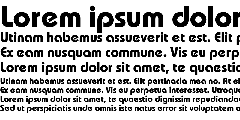 Sample of BauhausC Bold