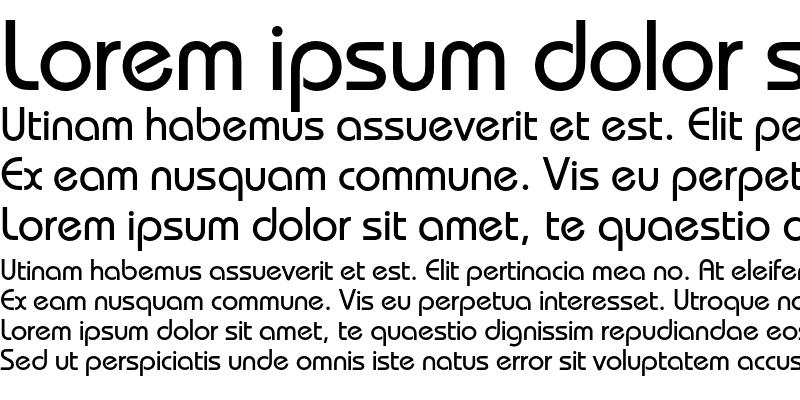 Sample of BauhausC Medium