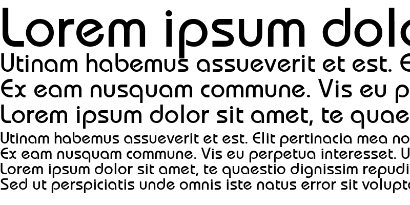 Sample of BauhausMedium
