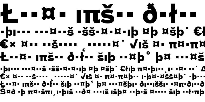 Sample of BauTF-BoldExpert