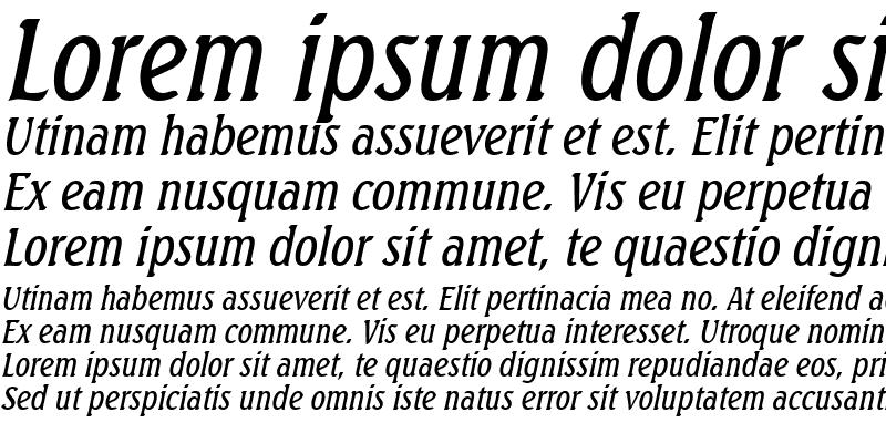 Sample of BeachCondensed Italic