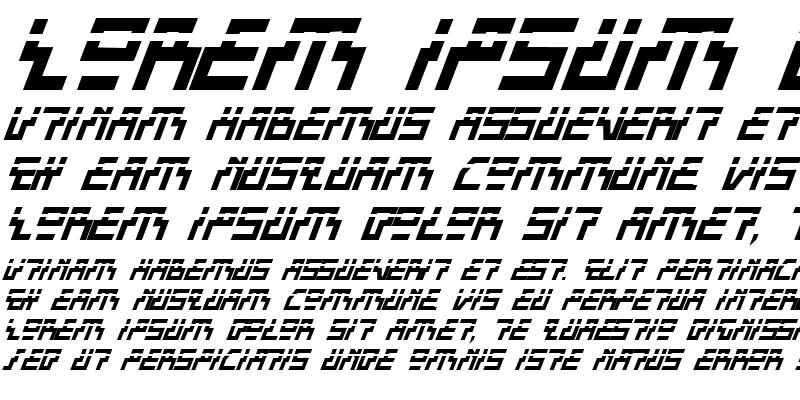 Sample of Beam Rider Bold Italic Laser