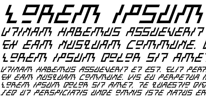 Sample of Beam Rider Italic Italic