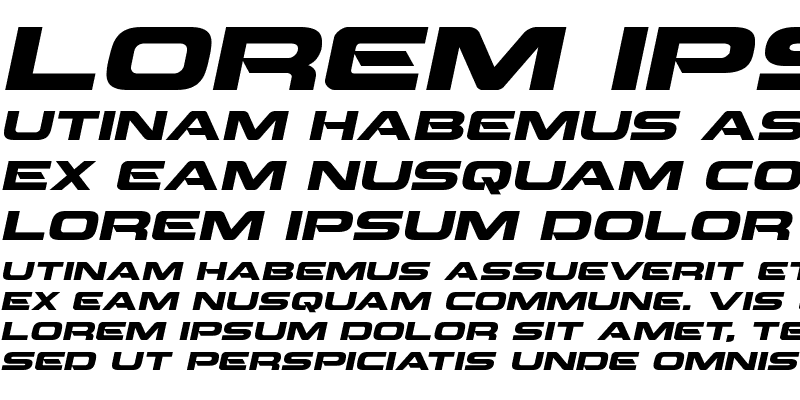 Sample of Beam Weapon Expanded Italic Expanded Italic