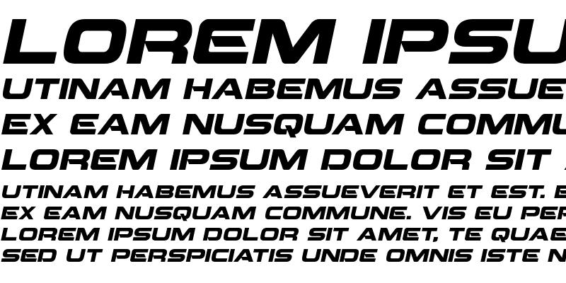 Sample of Beam Weapon Italic Italic
