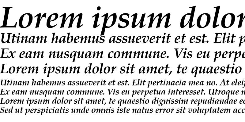 Sample of Becker Palladio Bold Italic
