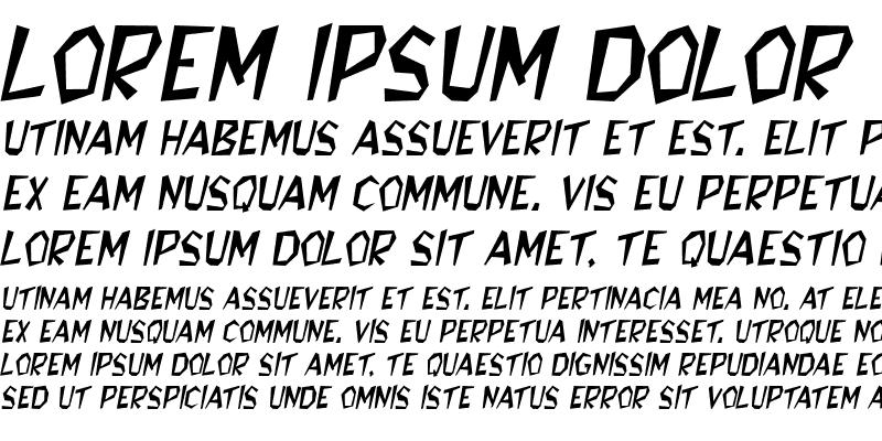 Sample of Bedrock Italic
