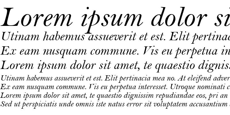 Sample of BellMT RomanItalic