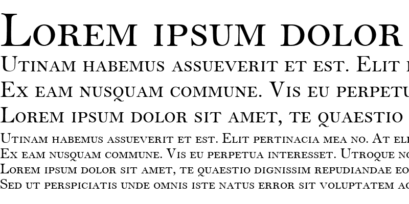 Sample of BellMTSmallCaps Roman