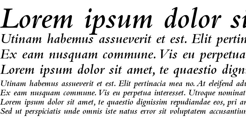 Sample of Bembo MT SemiBold SemiBold Italic