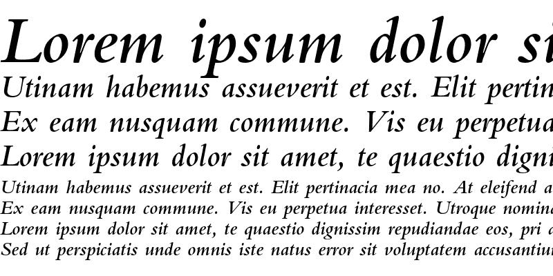 Sample of Bembo Std Semibold Italic