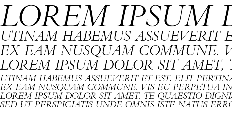 Sample of Bembo Titling MT Std Italic
