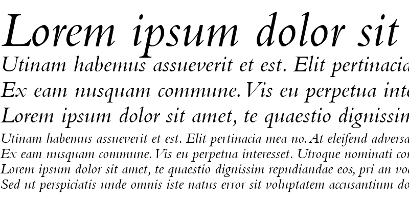 Sample of BemboOldstyleFigures RomanItalic