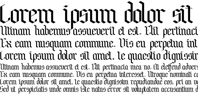 Sample of Bensch Gothic