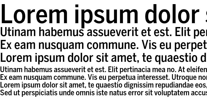 Sample of BentonSans Cond Medium