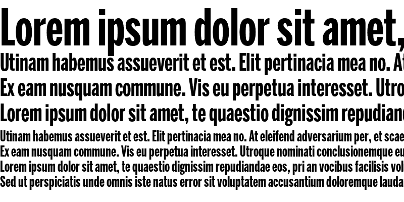 Sample of BentonSans ExtraComp Bold