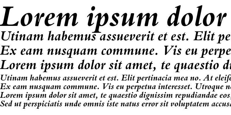Sample of Bergamo Std Bold Italic