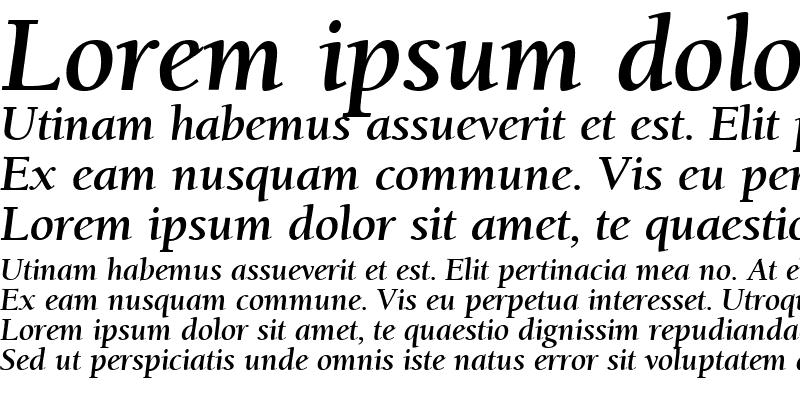 Sample of BergmannOldStyle BoldItalic