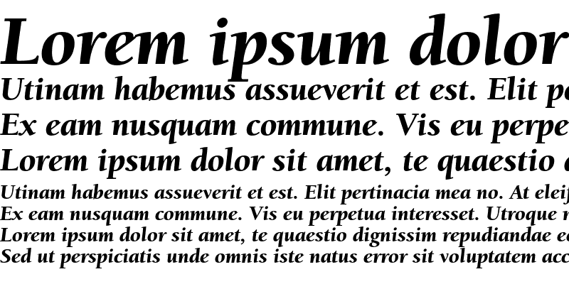 Sample of Berkeley Oldstyle Black Italic