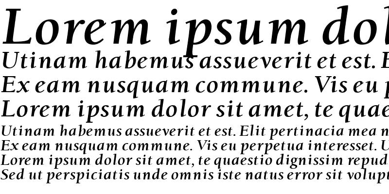 Sample of Berkeley Oldstyle Bold Italic