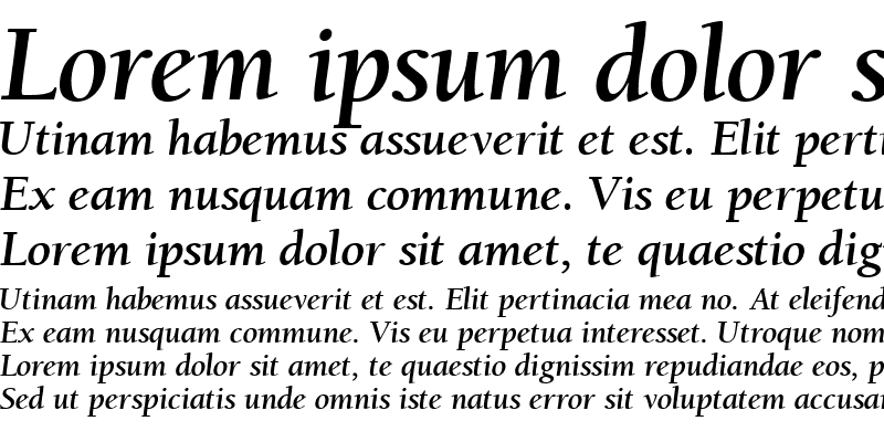 Sample of Berkeley Retrospective SSi Bold Italic