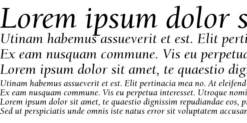 Sample of Berkeley Retrospective SSi Italic