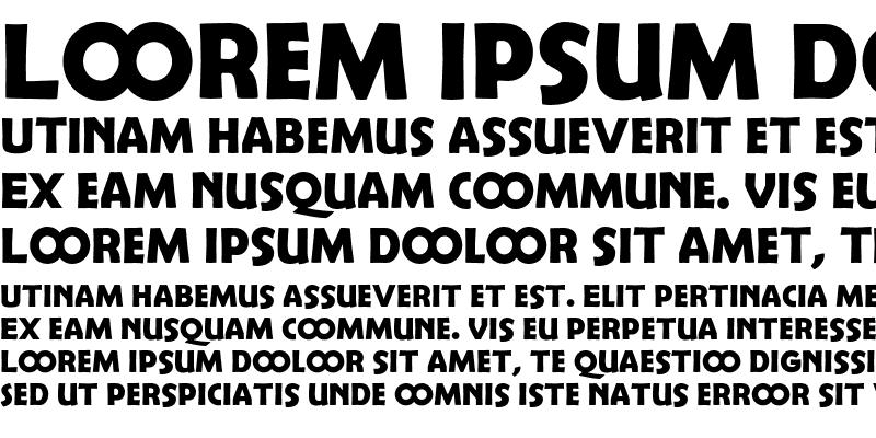 Sample of Berlin Sans Demi Exp Regular