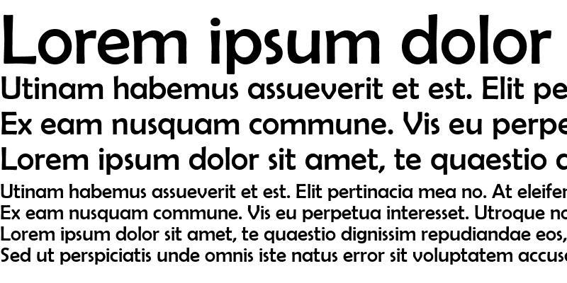 Sample of Berlin Sans FB Regular