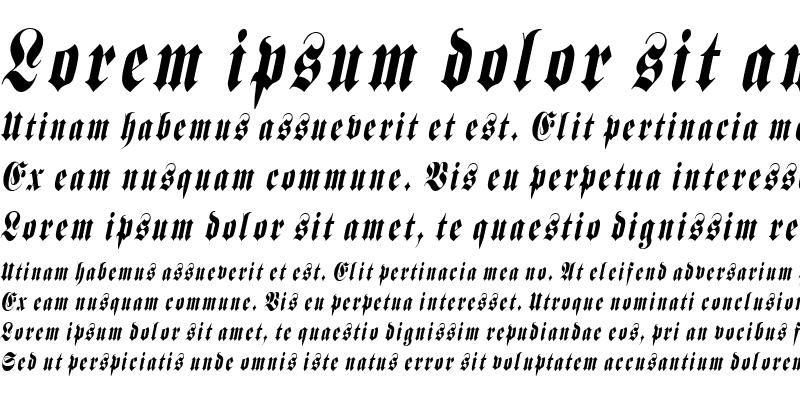 Sample of BerlinerCondensed