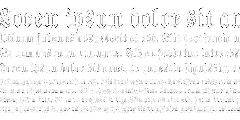 Sample of BerlinerOutlineCondensed