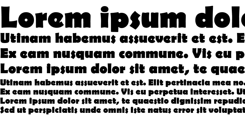 Sample of Berlinsans Bold
