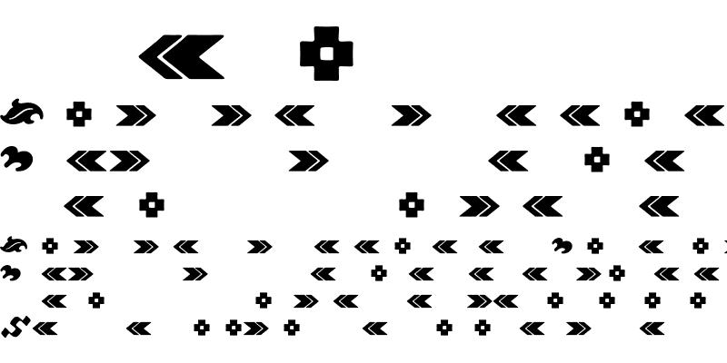 Sample of Berlinsans Dingbats