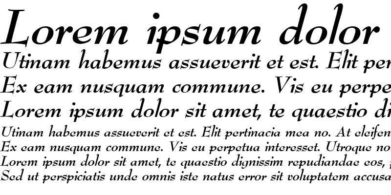 Sample of BernhardModern BoldItalic